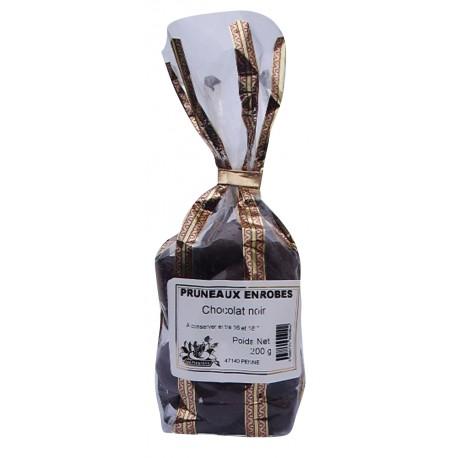 Pruneaux enrobés au chocolat noir